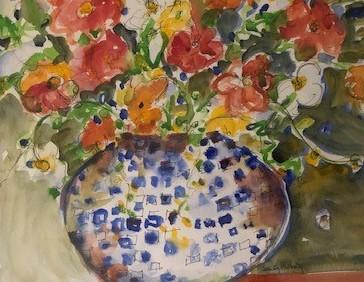 Love In Bloom 26, Sandy Holberg, Watercolor, $195