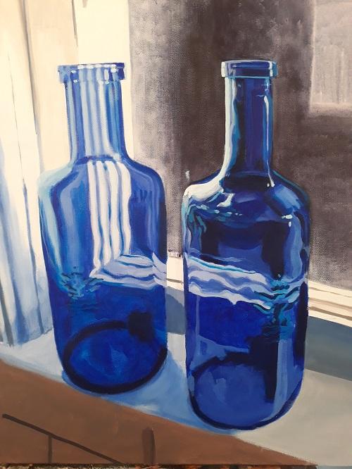 Blue Bottles, Bradford Fuller, $450