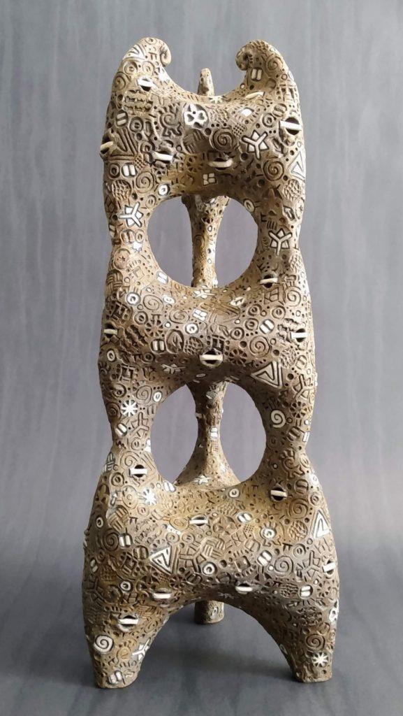 Raku Tripod Structure, Jeff Knighton, $600