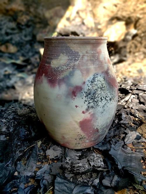 Pit Fired Vase #2, Jennifer Williams, NFS