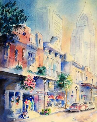 Sunset on Dauphin Street, Jerry Fair, $595