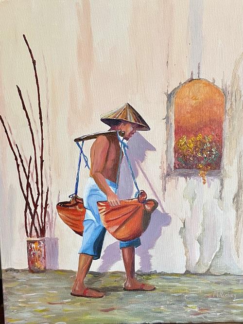 Vietnam-Going Shopping, Margaret Richey, $900