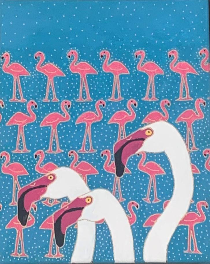 Not Enough Flamingos, Sharon Lyn Jones, $450
